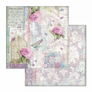 Stamperia Hortensia Cage & Birds 12x12 Paper Sheets