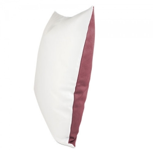 sublimatie Kussenhoes met gekleurde achterkant.