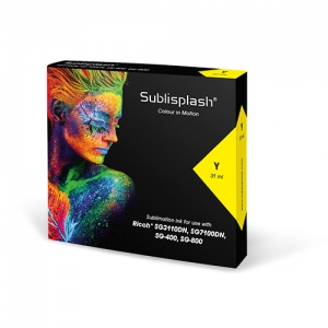 Sublisplash® 31 ml Yellow for Ricoh SG 3110DN/7100DN, SG 400/800