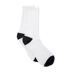 Sublimatie sokken wit met zwarte hiel en teenstuk maat 35-37