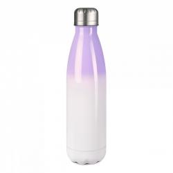 Sublimatie RVS thermoskan 500 ml  purple wit