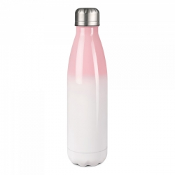 Sublimatie RVS thermoskan 500 ml pink wit