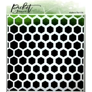 Picket Fence Studios Honeycomb Stencil