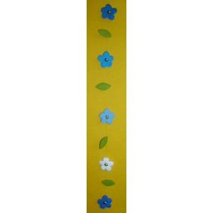 Vilt-bloemenhanger blauw