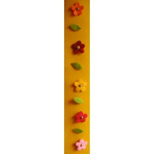 Vilt-bloemenhanger rood