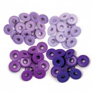 We R Memory Keepers • Wide eyelets x 40 Purple