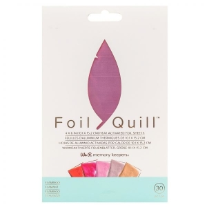 We R Memory Keepers Foil Sheets 4x6 Inch Flamingo (30pcs)