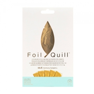 We R Memory Keepers Foil Sheets 4x6 Inch Gold Finch (30pcs)
