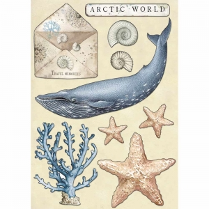 Stamperia Colored Wooden Shapes A5 Arctic World