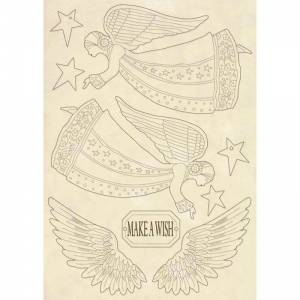 Stamperia Wooden Shape A5 Angel & Wings