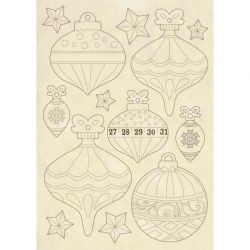 Stamperia Wooden Shape A5 Christmas Balls