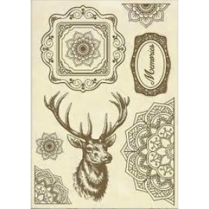Stamperia Wooden Shape A5 Cosmos Deer