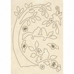 Stamperia Wooden Shapes A5 Branch with Birds