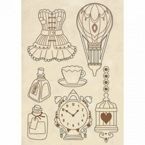 Stamperia Wooden Shapes A5 Corsets & Accessories