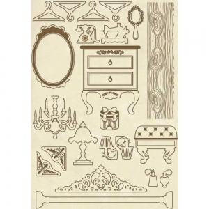 Stamperia Wooden Shapes A5 Furniture Items
