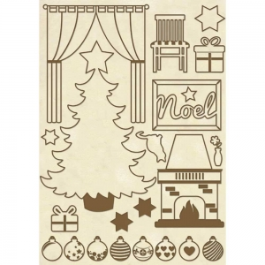 Stamperia Wooden Shapes A5 Christmas Home