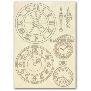 Stamperia Wooden Shapes A5 Clocks