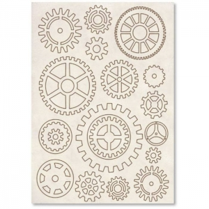 Stamperia Wooden Shapes A5 Gears